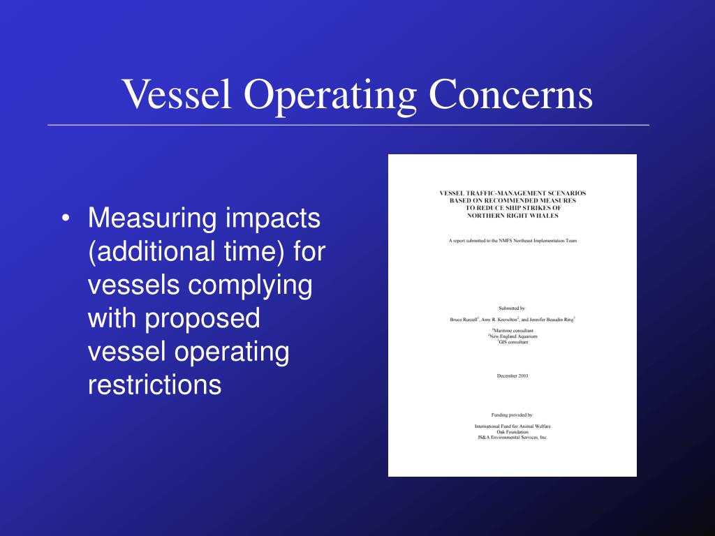 Vessel Operating Concerns