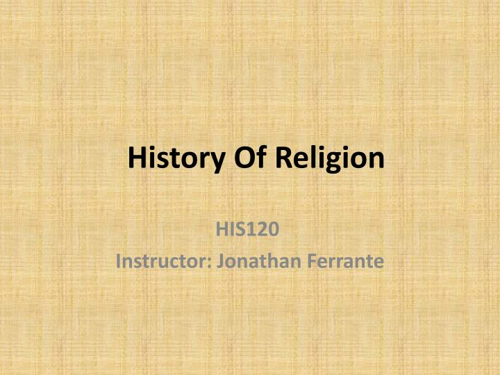 history of religion n.