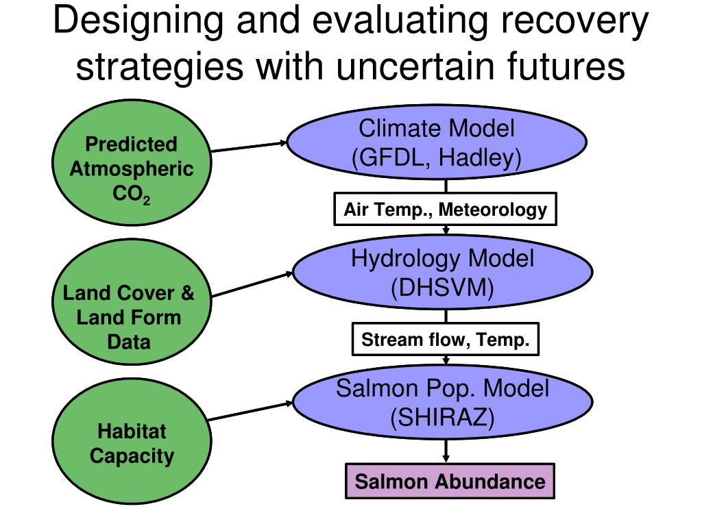 Designing and evaluating recovery strategies with uncertain futures