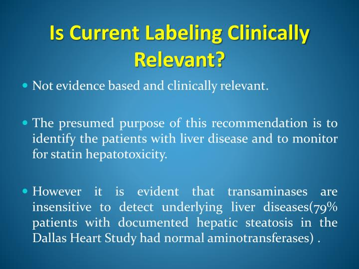 Ppt Statins And The Liver Powerpoint Presentation Id1055690