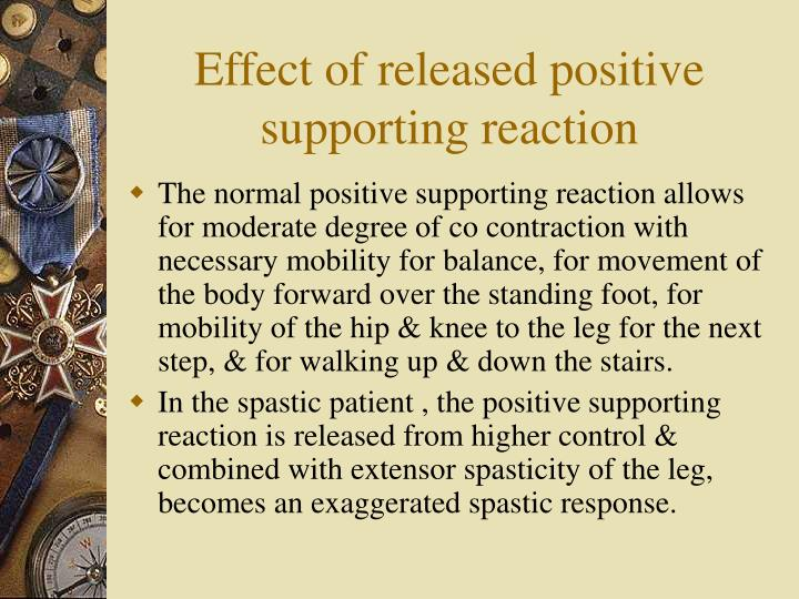 Effect of released positive supporting reaction
