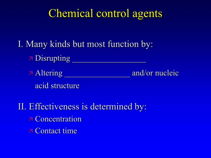 Chemical control agents