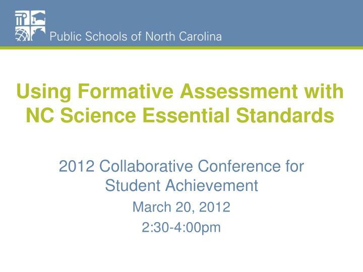 using formative assessment with nc science essential standards n.