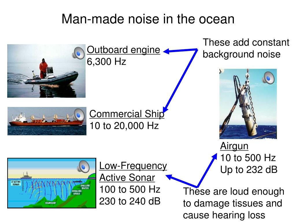 Man-made noise in the ocean