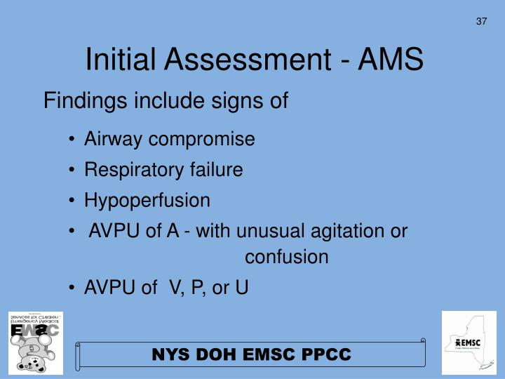 Initial Assessment - AMS