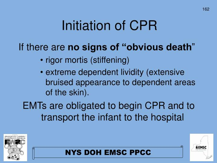 Initiation of CPR