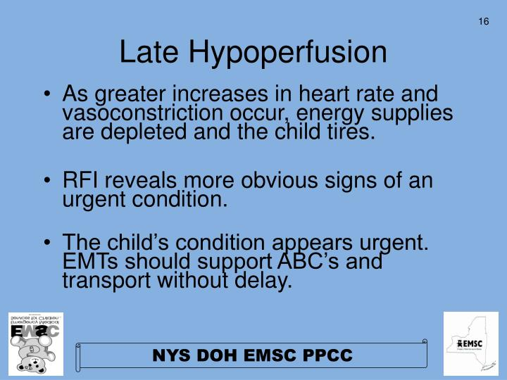 Late Hypoperfusion