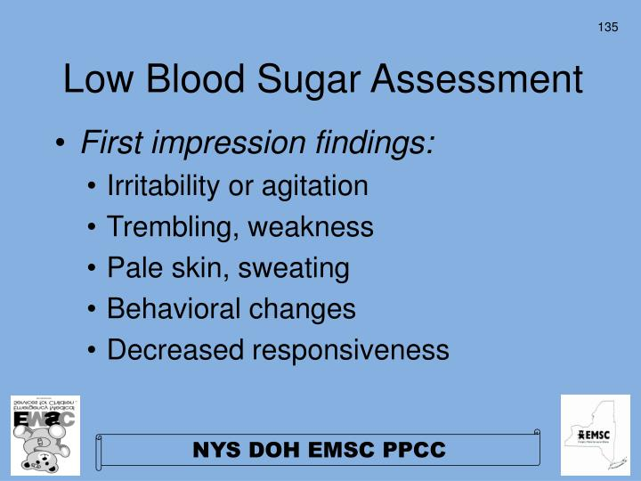 Low Blood Sugar Assessment
