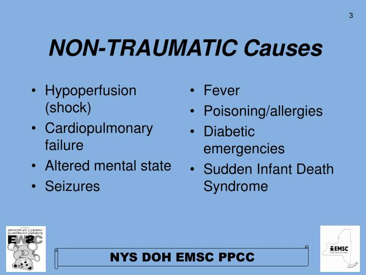 Non traumatic causes