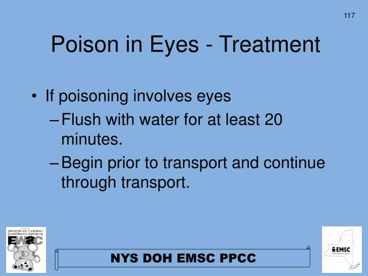 Poison in Eyes - Treatment