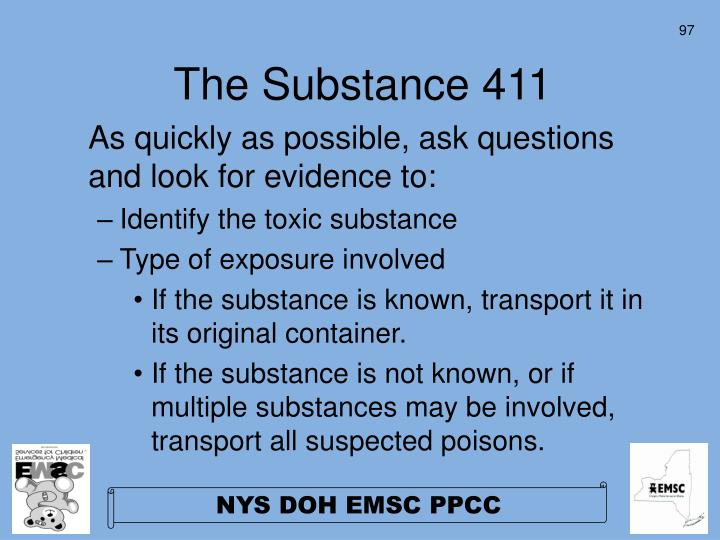 The Substance 411