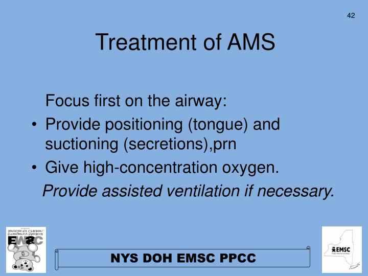 Treatment of AMS