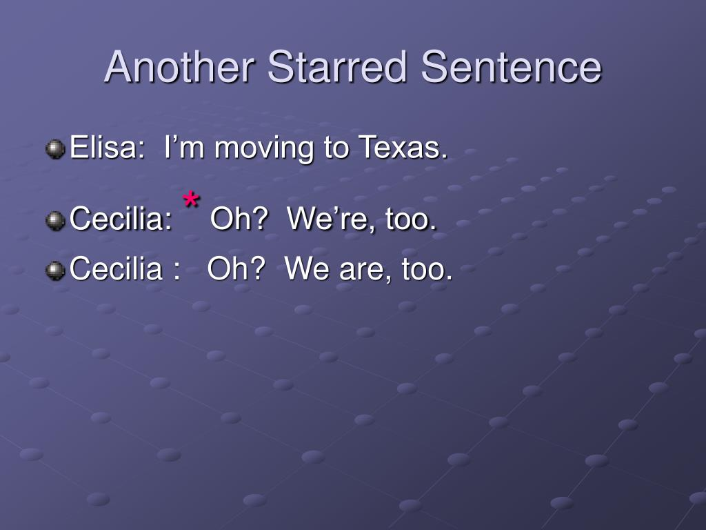 Another Starred Sentence