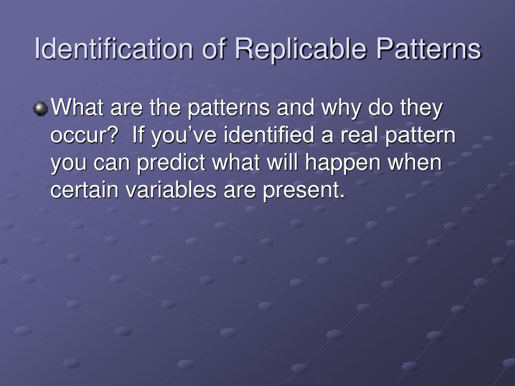 Identification of Replicable Patterns