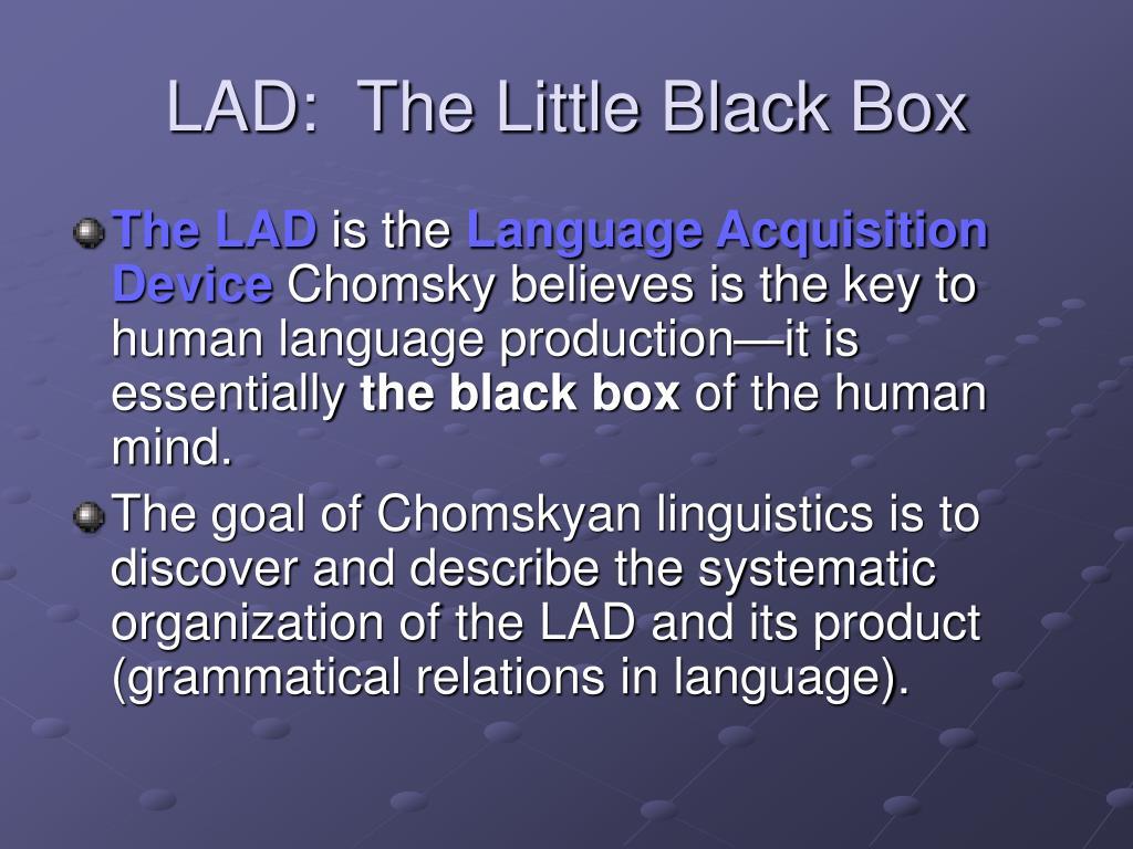 LAD:  The Little Black Box