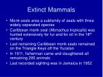 extinct mammals21