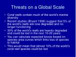 threats on a global scale