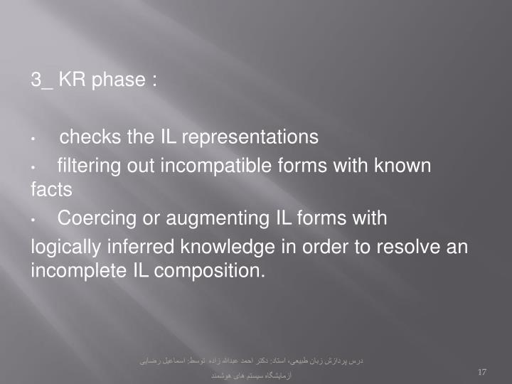 3_ KR phase :