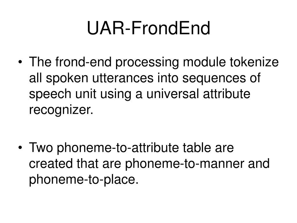 UAR-FrondEnd
