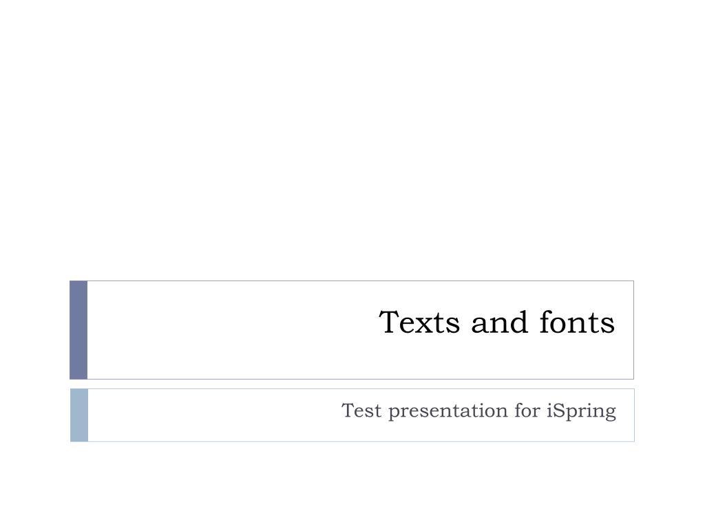 texts and fonts l.