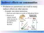 indirect effects on communities5