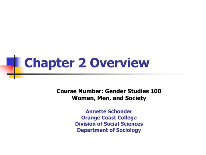chapter 2 overview n.