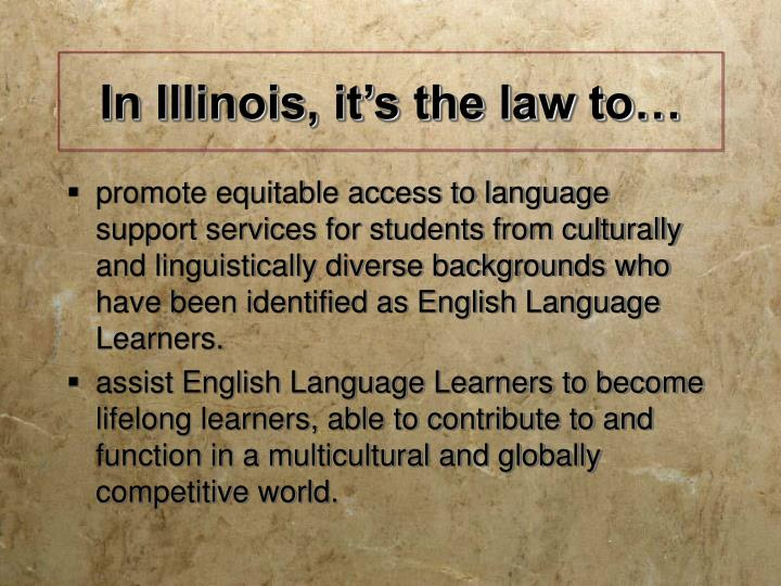 in illinois it s the law to n.
