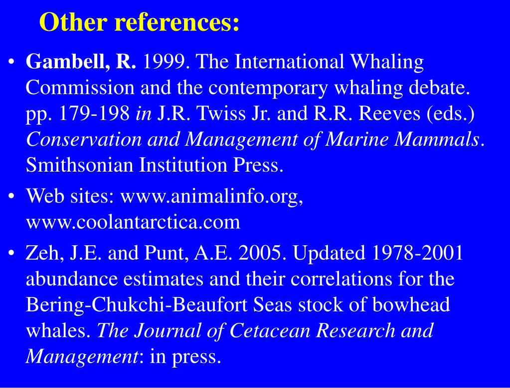 Other references:
