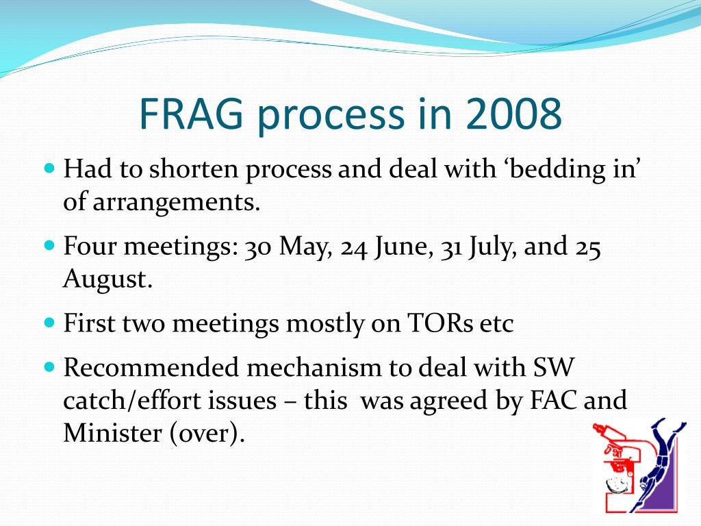 FRAG process in 2008