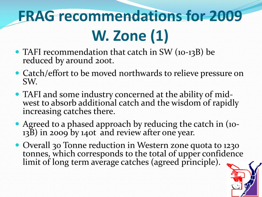 FRAG recommendations for 2009 W. Zone (1)