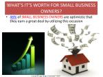 what s it s worth for small business owners