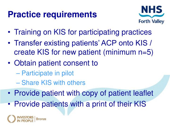 Practice requirements