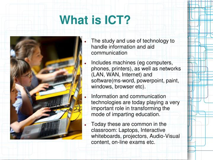ppt information and communication technology a modern tool for