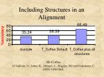 including structures in an alignment