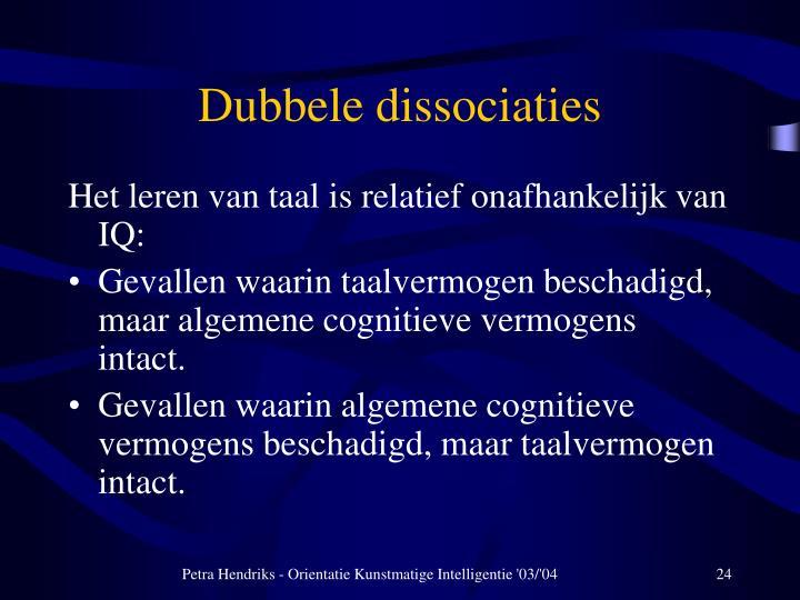 Dubbele dissociaties