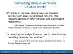 delivering unique materials related work