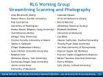 rlg working group streamlining scanning and photography