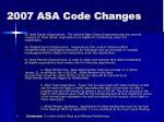 2007 asa code changes5