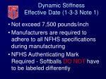 dynamic stiffness effective date 1 3 3 note 1