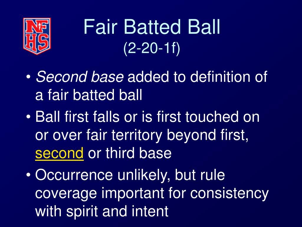 Fair Batted Ball