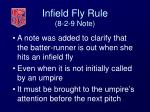 infield fly rule 8 2 9 note