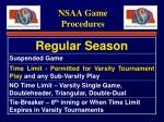 nsaa game procedures