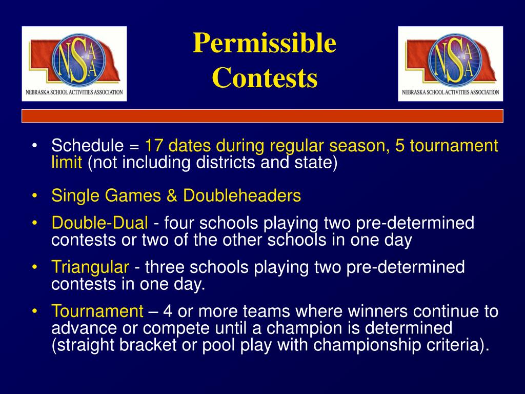 Permissible Contests