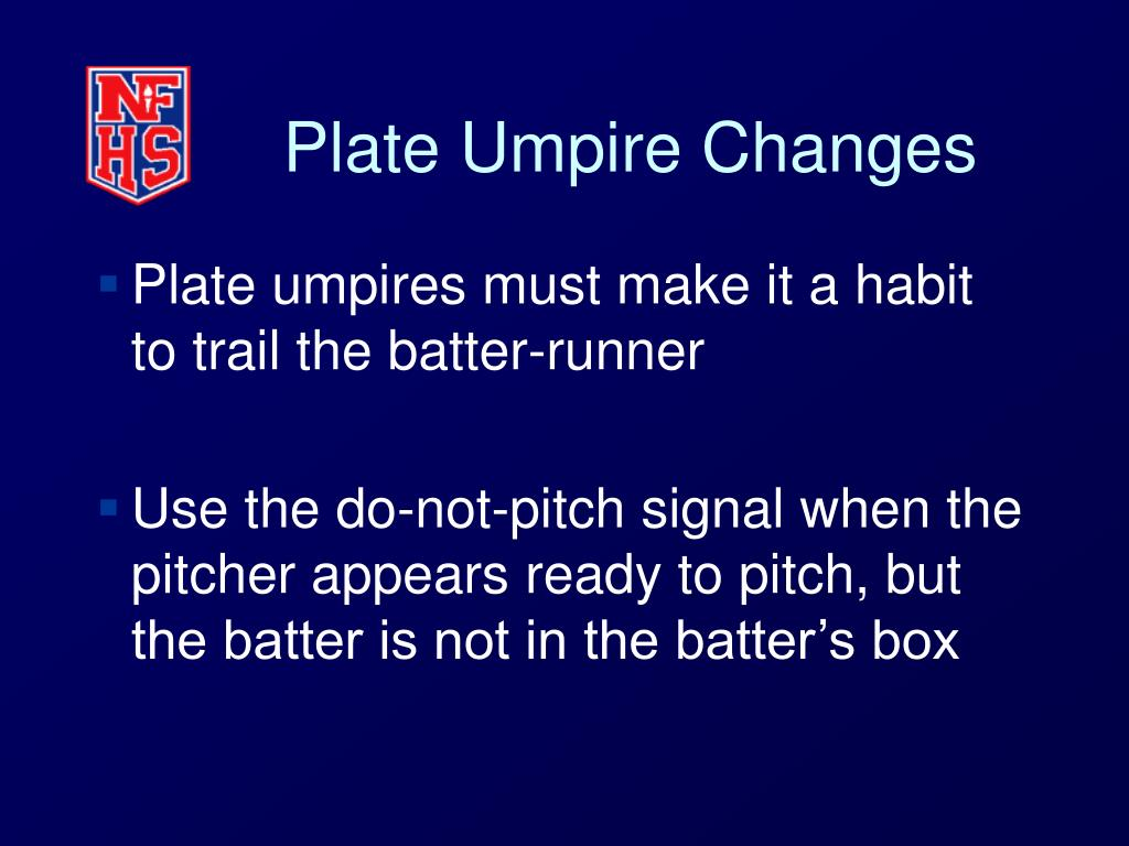 Plate Umpire Changes