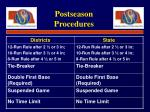 postseason procedures