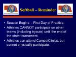 softball reminder