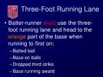 three foot running lane36