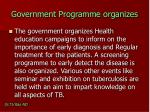 government programme organizes