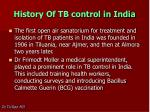 history of tb control in india