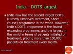 india dots largest